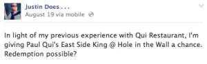 East Side King Facebook