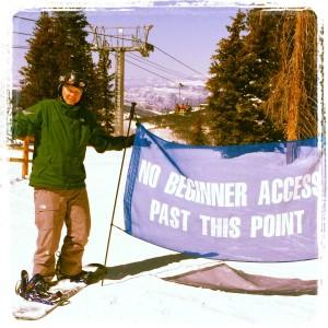 Snowboard beginner access only