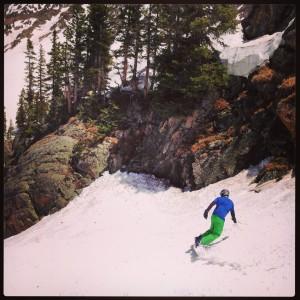 Snowboarding at Arapahoe Basin, Colorado in JUNE!