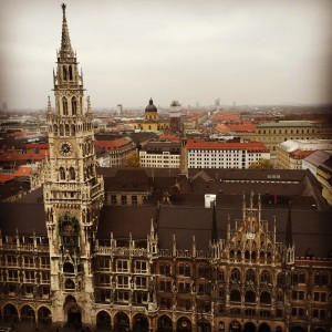 My first visit to Germany - and the view of Munich.