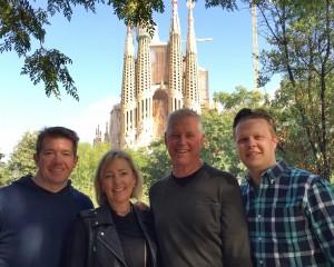 My fun European traveling companions outside of La Sagrada Familia in Barcelona.